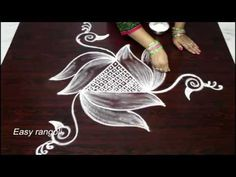 latest side/border rangoli designs * simple kolam with out dots * how to draw easy muggulu - YouTube