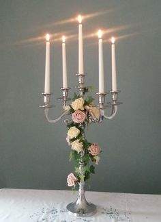STUNNING SILVER 60cm WEDDING CANDELABRA CENTREPIECES FOR HIRE £17 | eBay