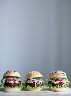 Veggie burgers by Call me cupcake, via Flickr