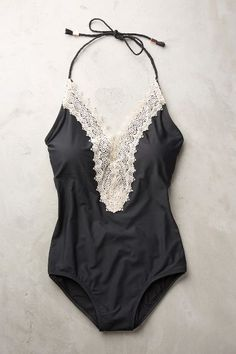 Anthropologie Lace-Front Maillot #anthrofave