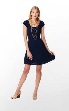 Hazel Sweater Dress in True Navy $208 (w/o 9/15/12) #lillypulitzer #fashion #style | just bought this dress last week. Featuring it this Friday dressed up and down.