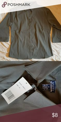 Nice grey button down Brand New! Excellent condition! uniti Tops Button Down Shirts