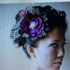This would have been perfect for my royal purple wedding. Pretty!