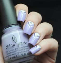 Lavender triangle nail art | Eeeek! Nail Polish!
