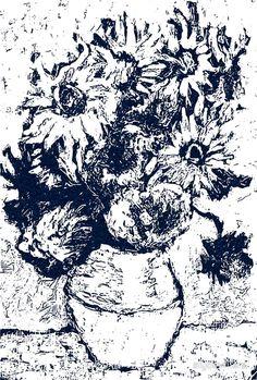Girasoles azules de Van Gogh