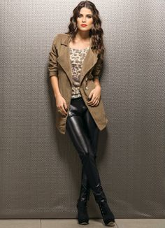 LindonaRem- Comunidade da Moda : Look do Dia Mix, Ideias Fashion, Leather Pants, Shopping, Holiday, Fashion Trends, Black, Women's Work Fashion, Community