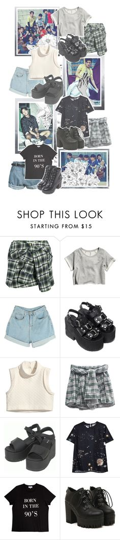 """""""My Type By. iKON"""" by josi-heart ❤ liked on Polyvore featuring Faith Connexion, H&M, UNIF, Dr. Martens, Valentino, Retrò, pop.see.cul and ALDO"""