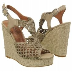 Love this wedge! Lucky Brand Women's Rilo Sandal in Chinchilla Grey shoes.com