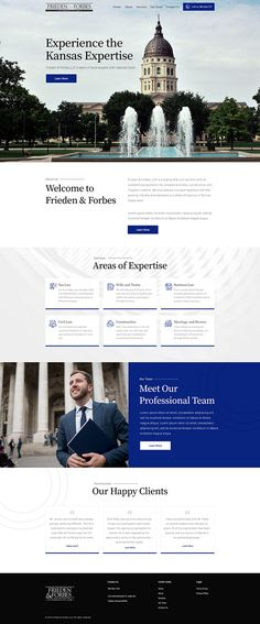 Website for a law firm on Behance Web Design Tips, Web Design Inspiration, Ad Design, Graphic Design, Lawyer Website, Law Firm Website, Law Web, Real Estate Landing Pages, Real Estate Website Design