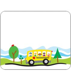 School Bus Name Tags - Carson Dellosa Publishing Education Supplies #CDWishList