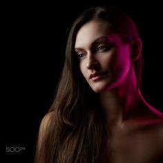 Colored light portrait - Fashion portrait of young brunette with color light Anti Feminist, Boudoir Photos, Personal Photo, Historical Photos, Light Colors, Portrait, Celebrities, Model, Beauty