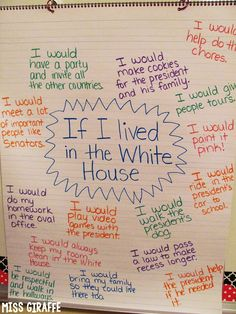 If I Lived in the White House and other fun February writing prompts president's day Social Studies Activities, Teaching Social Studies, Teaching Writing, Writing Prompts, Teaching Ideas, Writing Ideas, Writing Lists, 4th Grade Writing, Essay Prompts