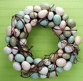 egg wreaths - Google Search