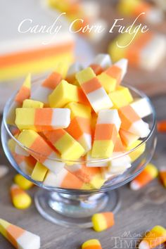 This Easy Candy Corn Fudge recipe is going to become an annual tradition! Layers of creamy fudge flavored with real honey that look just like candy corn - so fun! No sweetened condensed milk needed! | Mom On Timeout