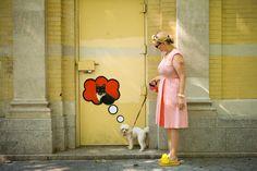 streetart dogs dream