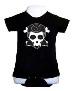 Danny Skull onesie or tee by XYFactory on Etsy, $15.99