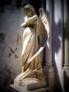 El Angel de Monteverde en Cementerio Nº 1 Cerro Panteòn, Valparaìso, Chile.