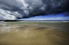 Gwithian Sands, Cornwall. Nikon D3. Shot by me during our summer vacation. No filters needed. storm clouds shore beach sea river sky