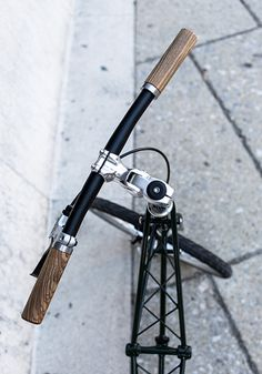 wooden bike handlebars