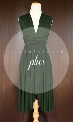 Plus Size Forest Green Bridesmaid Dress by thedaintyard on Etsy