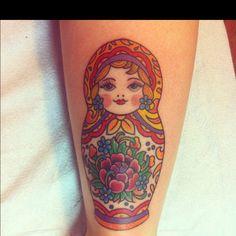 Russian Nesting Doll Tattoo - colors are pretty @Meghan Krane Allies @Trisha Welstad