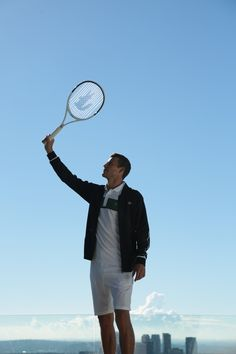 On top of the world. Get your Lacoste tennis racket out and #LiveBeautifully.