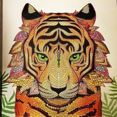 Finished my tiger #themenagerie #themenageriecolouringbook #adultcolouringbook #adultcolouring #tiger #animals