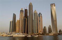 The world's tallest places to live (© AP) Dubai, Princess Tower, 432 Park Avenue, The Next Big Thing, Burj Khalifa, New York Skyline, Architecture Design, Places To Go, Exterior