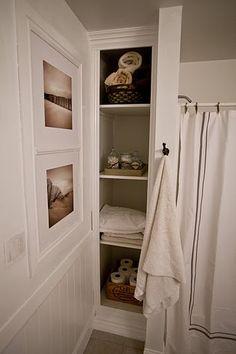 Built in bathroom shelves. @tidbitsfromthetremaynes