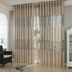 Wish | Fashion Leaf Tulle Door Window Curtain Drape Panel Sheer Scarf Valances Coffee summer