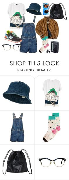 """overevo"" by pallo ❤ liked on Polyvore featuring Topshop, New Balance, Happy Socks, Monki and Sony"