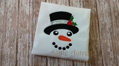 Snow Boy Face Applique Design