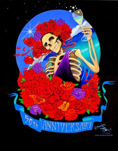 Grateful Dead 50th Anniversary Poster by Stanley Mouse