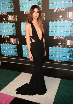 Lily Aldridge in a Calvin Klein Collection dress at the VMAs