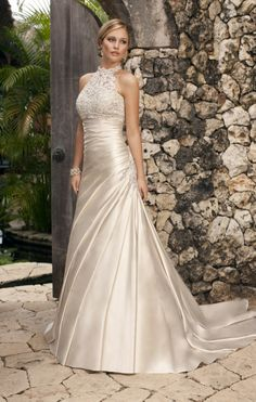 Fairytales Bridal Boutique - really like the halter neck, it's a neckline you don't often see