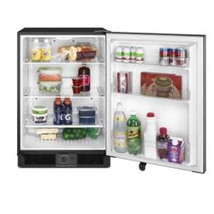 Maytag 5.6 cu. ft. Mini Refrigerator in Stainless Steel-MURM24FWBS - The Home Depot