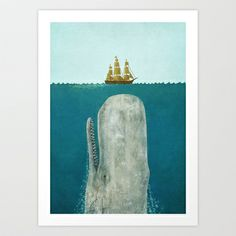 The+Whale++Art+Print+by+Terry+Fan+-+$18.00