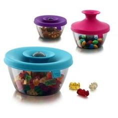 The PopSome Candy & Nut Dispenser is a practical dispenser for any small snacks at home or on the go.