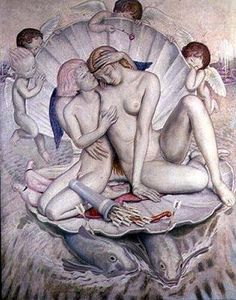 Aphrodite by Ernest PROCTER  (1886-1935) was an English designer, illustrator and painter, and husband to artist Dod Procter. He was actively involved with the Newlyn School, partner of the Harvey-Procter School and an instructor at the Glasgow School of Art