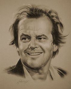 Jack Nicholson….Pencil art by Dumage