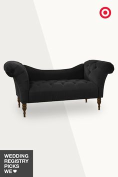 Add decor drama to your first home together with this gracefully curved, luxurious rolled-arm chaise lounge. Upholstered in velvet or linen blend, it's made to order in your choice of solid colors or prints. Check out the options, then add your fave to your Target Wedding Registry.