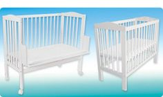 Very practical and has 10 height adjustments. Bedside Cot, Co Sleeper, Cots, Foam Mattress, Canopy, Furniture, Design, Home Decor, Bedside Bassinet