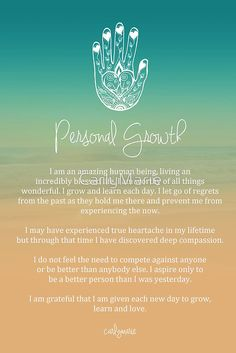 "This is a beautiful ""Personal Growth"" affirmation that would look amazing as a canvas print in any doula business office."