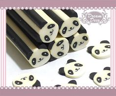 Lovely Panda Animal Polymer Clay Cane / Fimo Cane Stick For Nail Art Decoration Miniature Sweet Food / Dessert / Cake Decoration F045