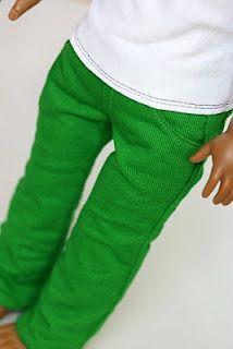 Skinny Jeans Pattern for American Girl Dolls