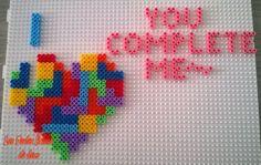 Tetris Heart hama perler beads by Jessica Bartelet - Les perles Hama de Jess