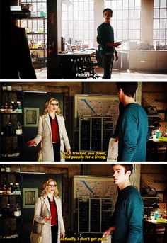 """""""I tracked you down, I find people for a living"""" - Felicity and Barry #Arrow"""