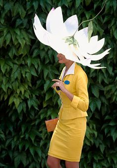 Comedy hats are never out of fashion at Ascot. They rear their heads again in 1995
