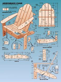 Adirondack Chair Blueprint.      -   #crafts  #diy