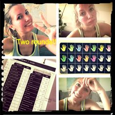 Day 12 - awesome workout! i think thats my favorit till now.  It is so motivating to write the reps down in the guide to see the effort. During the first round of the bootcamp i thought it is really tough, but when it was over i was thinking about, how it would be to do one more.  I had to try it. And it was great! I never felt better!  But what i forget every time when i go for one more round, there is the burnout afterwards  I was sweating so much but i m so happy - High five bodyrockers✋ Body Weight, Weight Loss, Body Rock, Sand Bag, Challenge S, Card Io, High Five, Don't Give Up, Play Hard